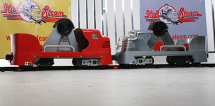 fiberglass and cast aluminum hand pedal cars