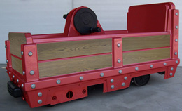 hand pedal custom mining car kiddie ride