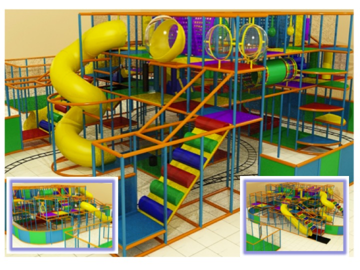Buy indoor play systems with multiple attractions for the price of one