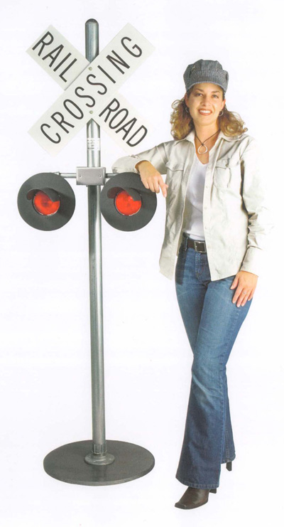 flashing scale railroad crossing signal for sale